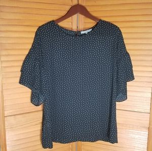 Daniel Rainn Polka Square Blouse